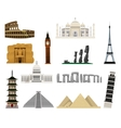 World monuments flat icons vector image