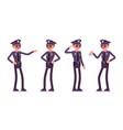 young happy policeman vector image
