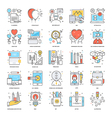 Flat Color Line Icons 13 vector image