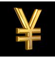 Golden Yen sign vector image vector image