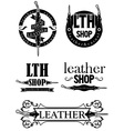 leather logo vector image