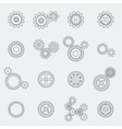 Cogs wheels and gears pictograms vector image