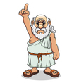 ancient greek man vector image vector image