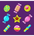 Hard Candy Colorful Simplified Icons Set vector image