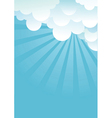 Blue sky with beautifull clouds image vector image
