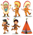 American Indians vector image