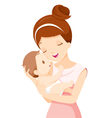 Baby In A Tender Embrace Of Mother vector image