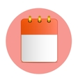 Blank sheet of desktop calendar in red color vector image