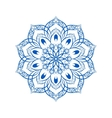Blue Flower Mandala Over White vector image