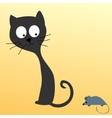 Cat watching a mouse vector image