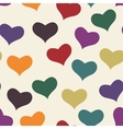 Color hearts vector image