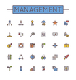 Colored Management Line Icons vector image