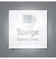 Coming Soon with abstract picture vector image