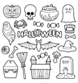 Halloween Patches Set vector image