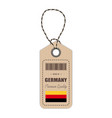 hang tag made in germany with flag icon isolated vector image