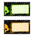 industrial frames with skull vector image