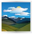 mountain card paper vector image