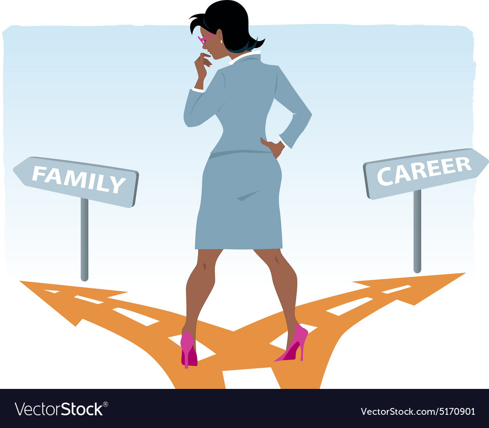 Career or family vector