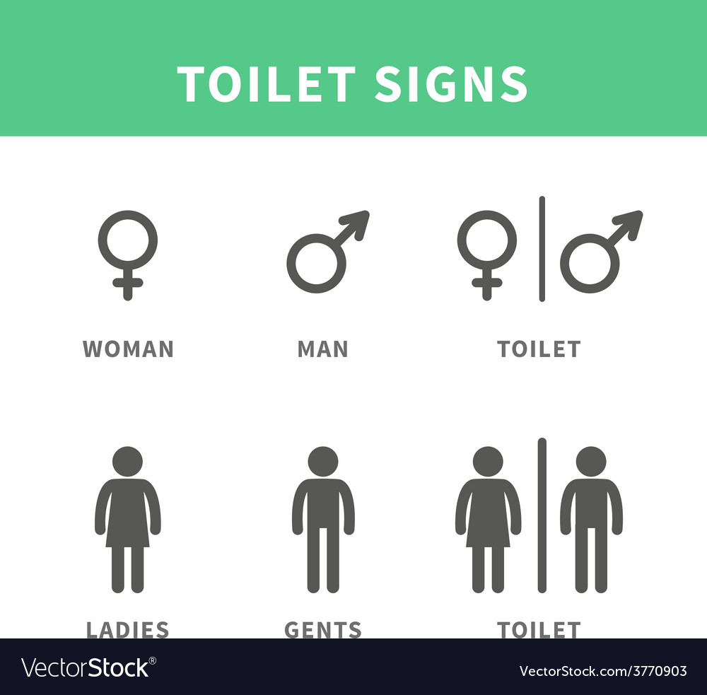 Man and woman pictogram vector