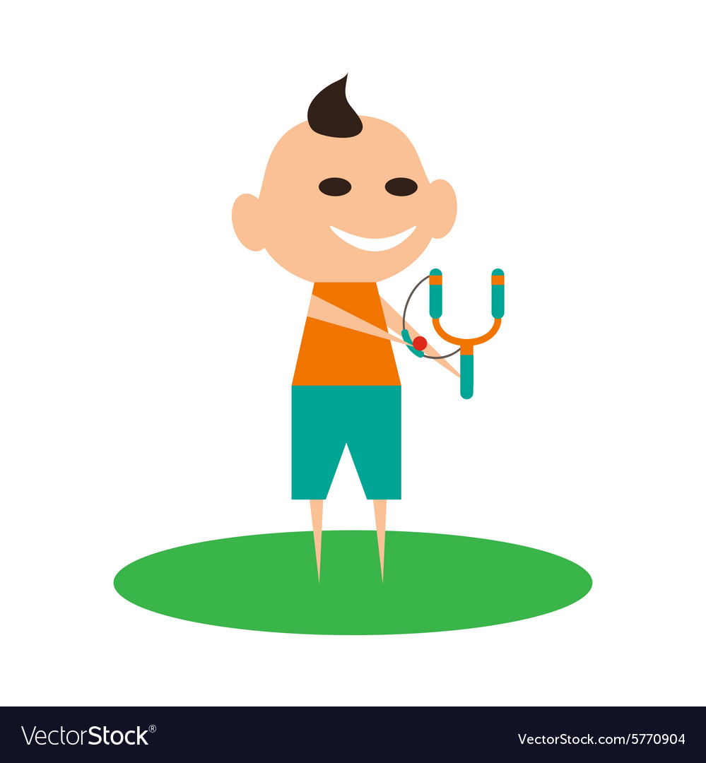 Flat with shadow icon and mobile application boy vector