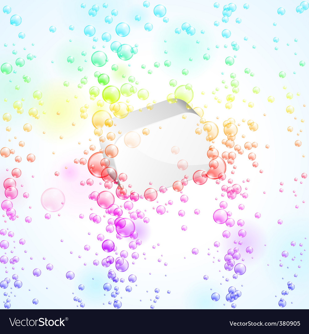 Baubbles background vector