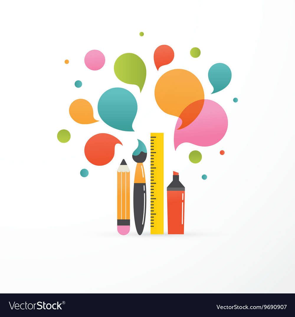 Back to school  education creativity and science vector