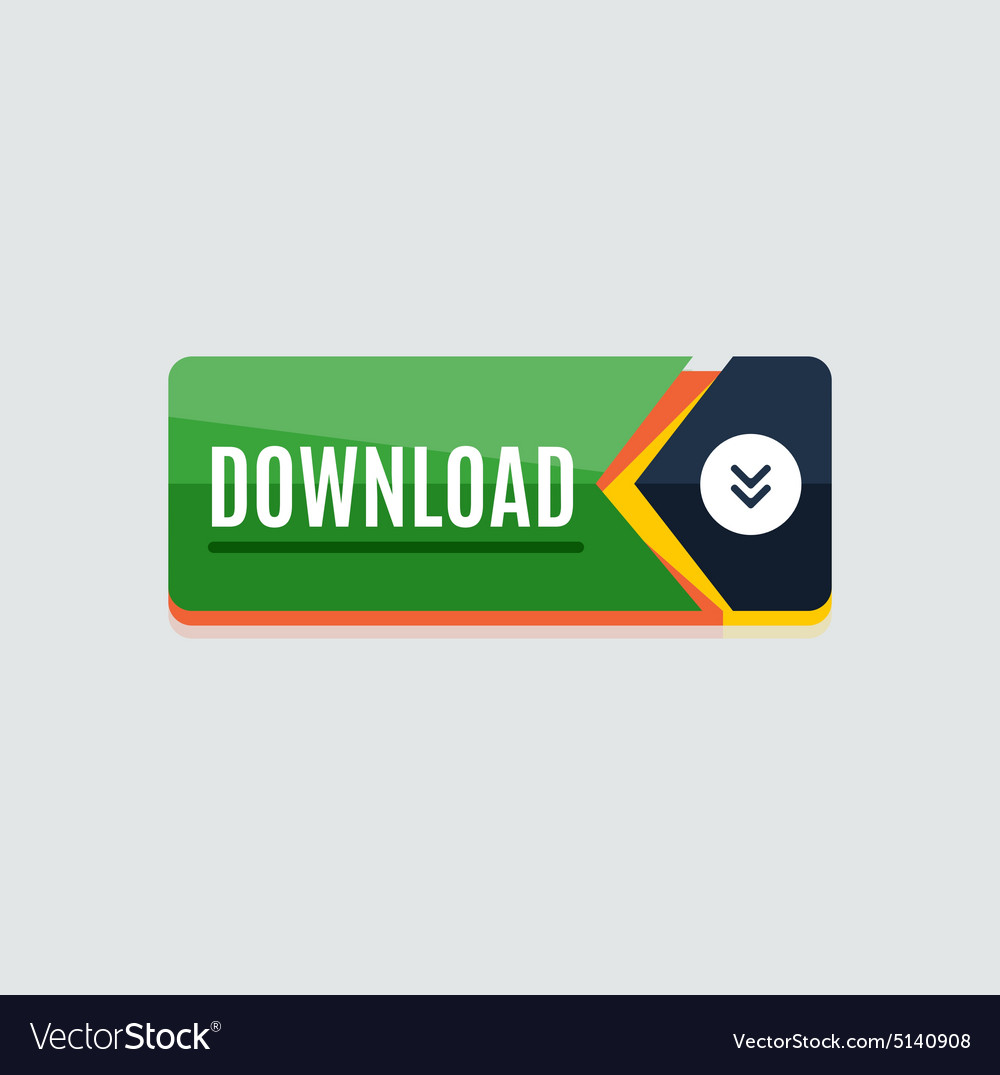 Colorful download web button modern flat design vector