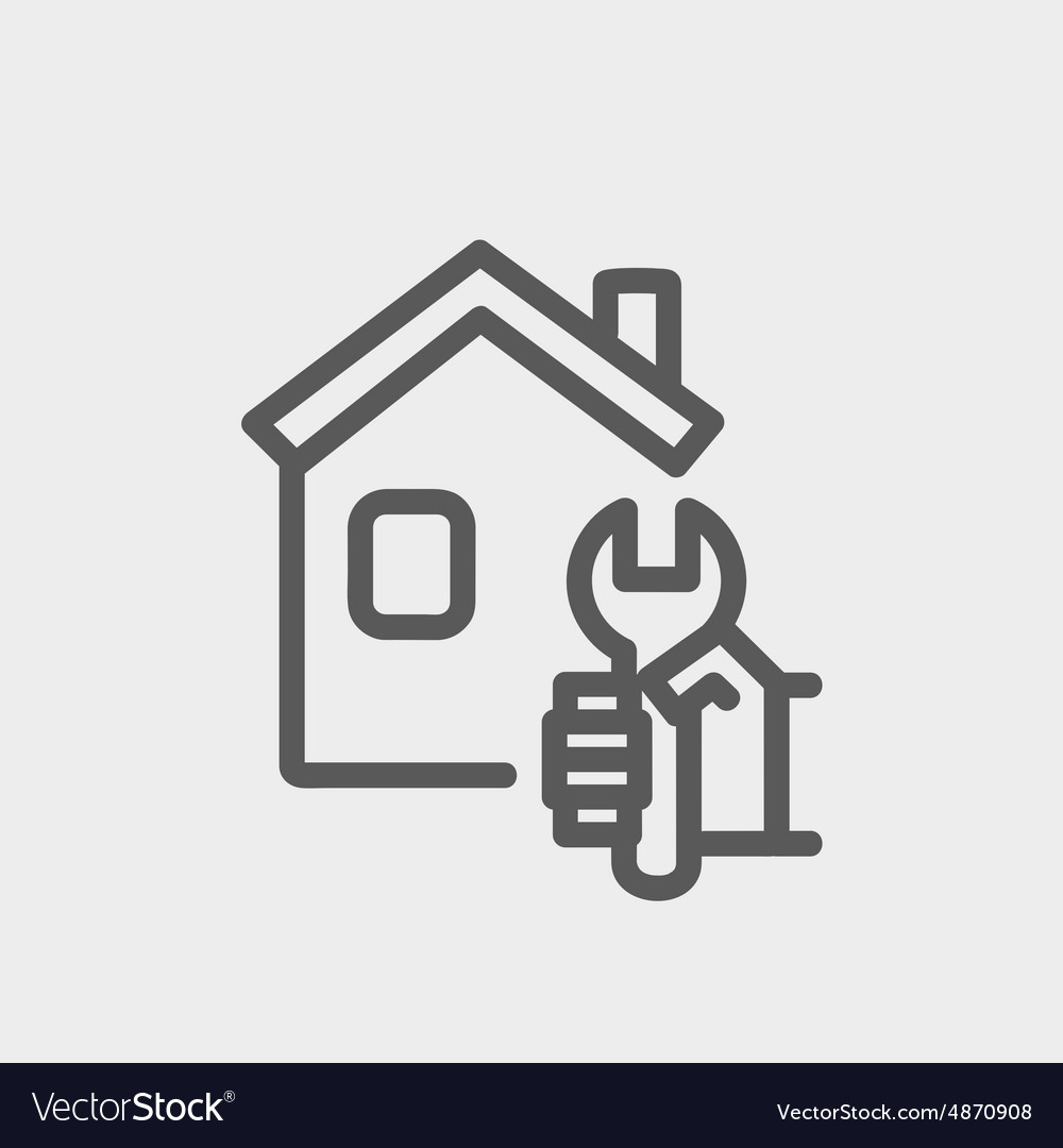 House repair thin line icon vector