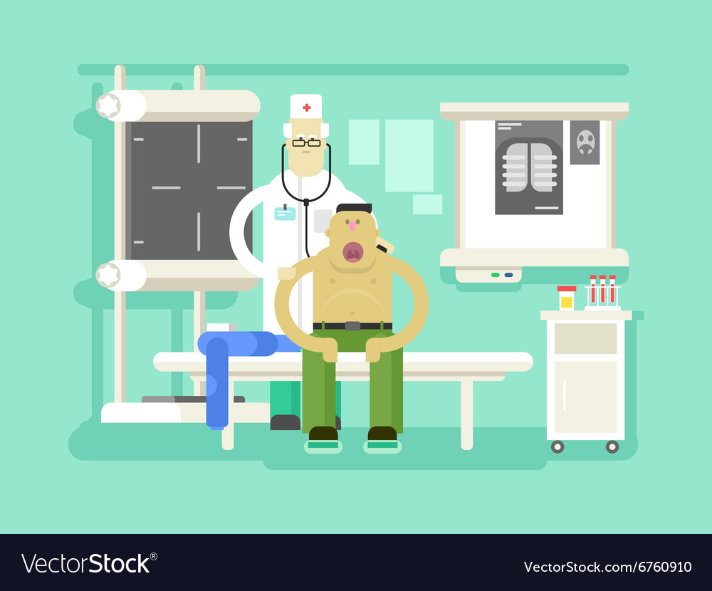 Patient and doctor character vector