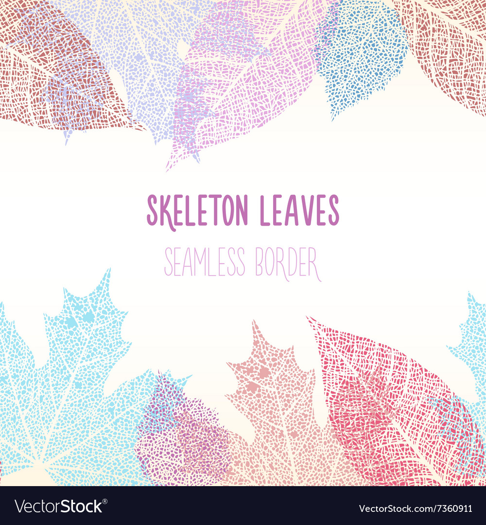 Skeleton leaves seamless vector