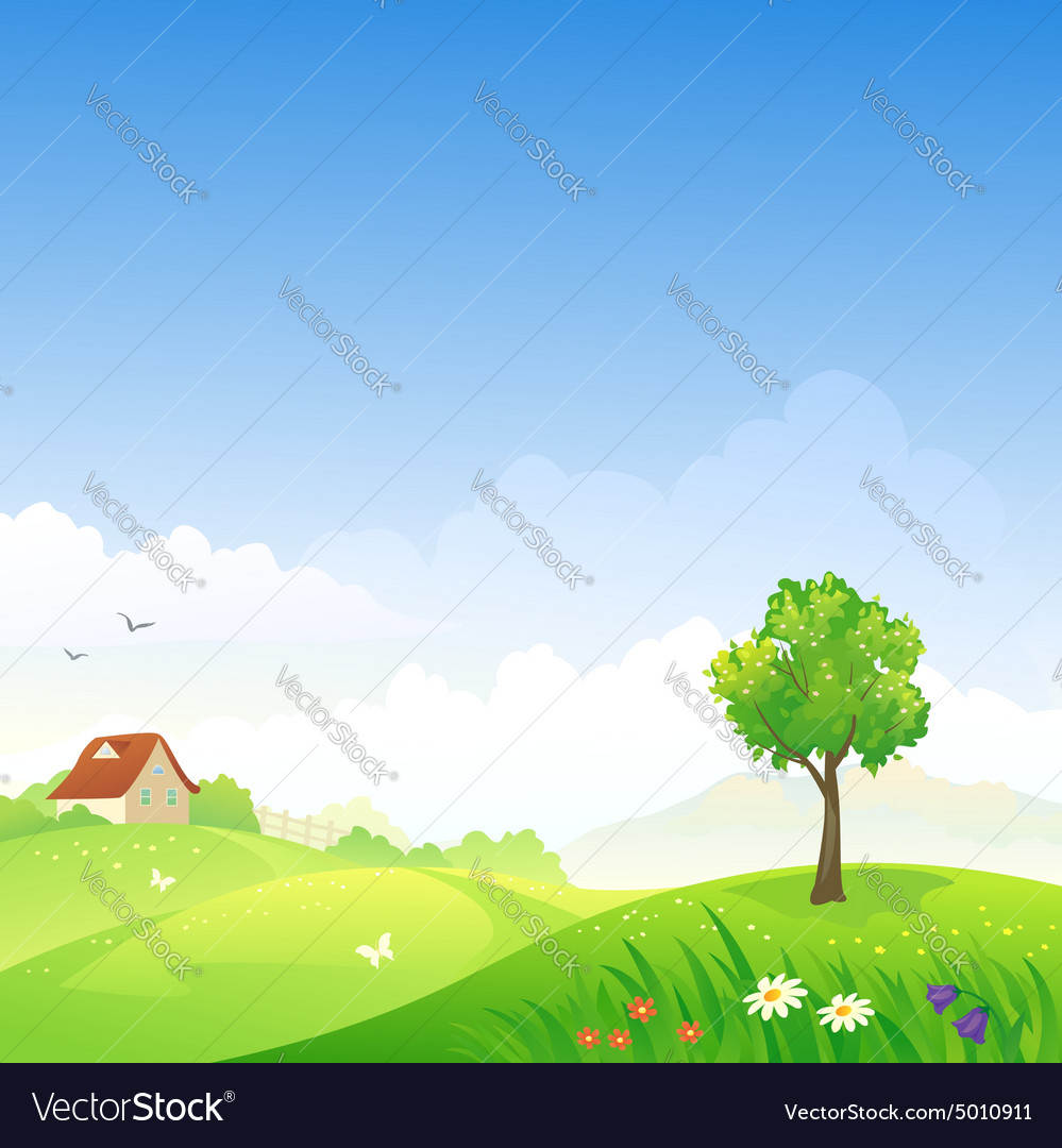 Spring day vector