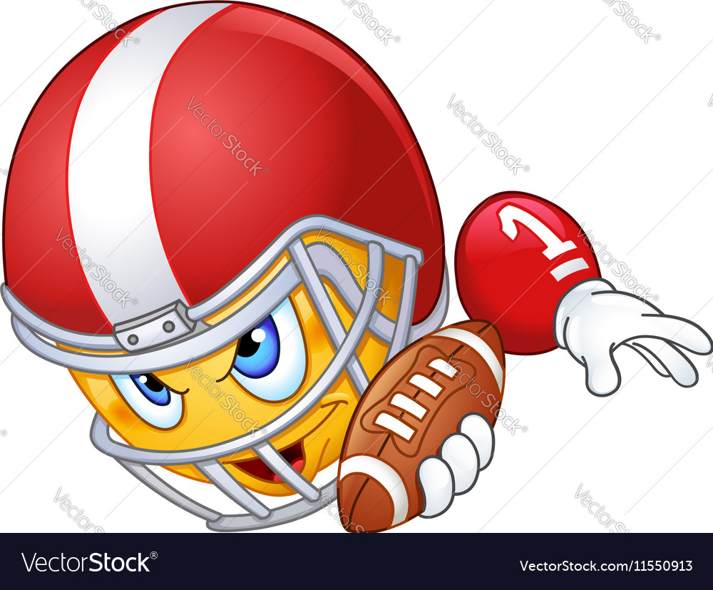 American football player emoticon vector