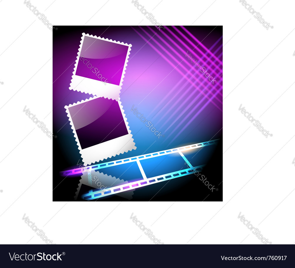 Page layout photo vector