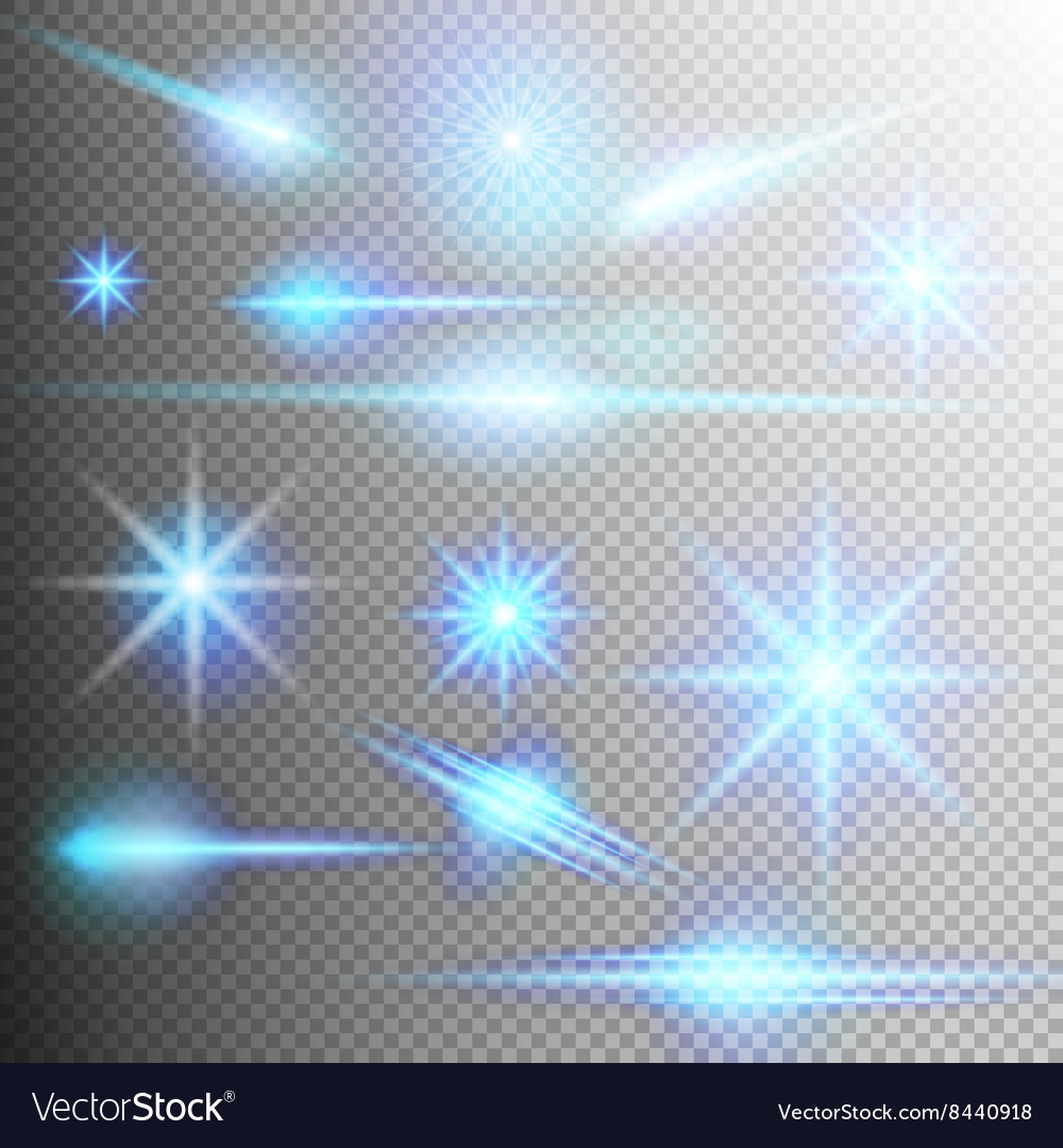 Set of glow light effect eps 10 vector