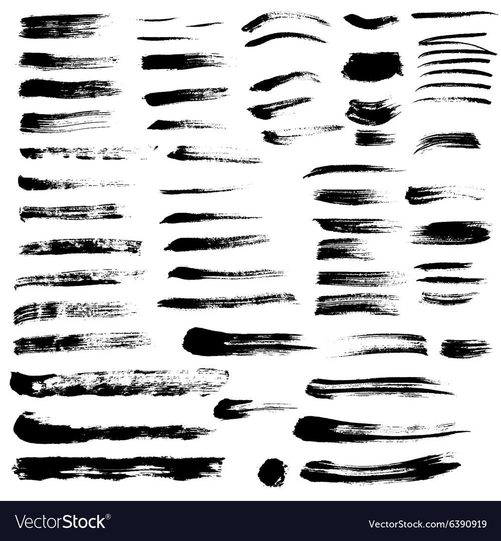 Black paint brush strokes collection vol 2 vector