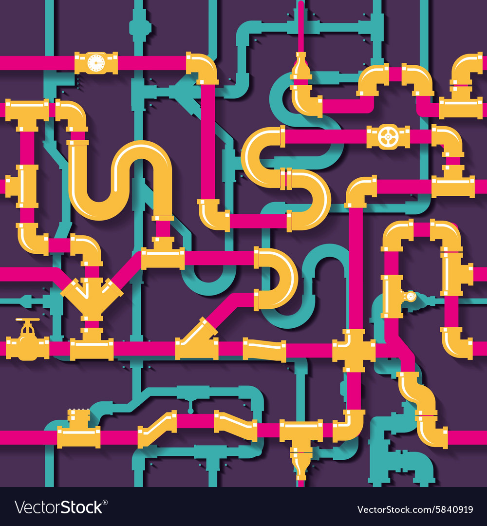 Water piping seamless pattern vector