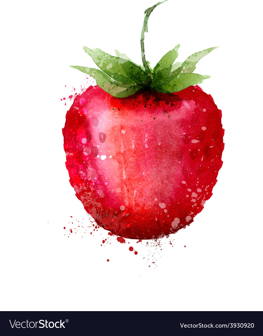 Strawberry logo design template berry or vector