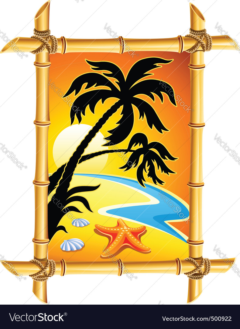 Abstract beach landscape vector