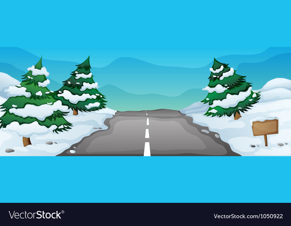 Snowy landscape vector