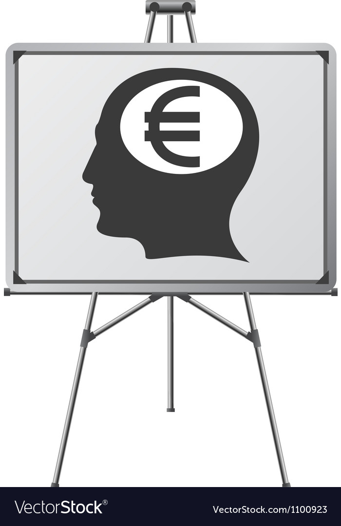 Euro brain of a man vector