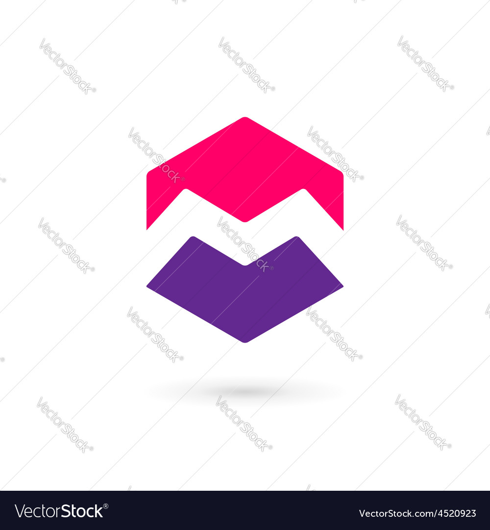 Letter m cube logo icon design template elements vector