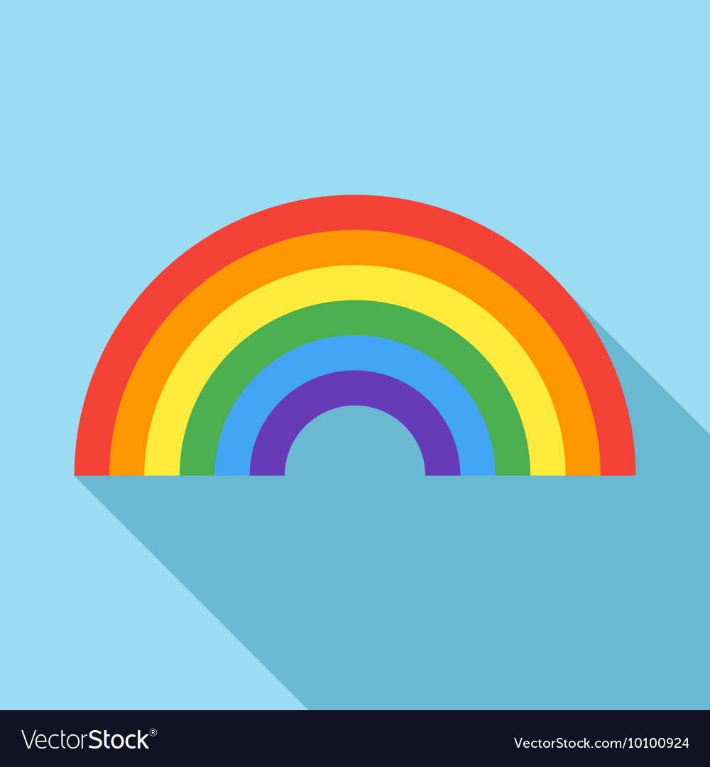 Rainbow icon in flat style vector