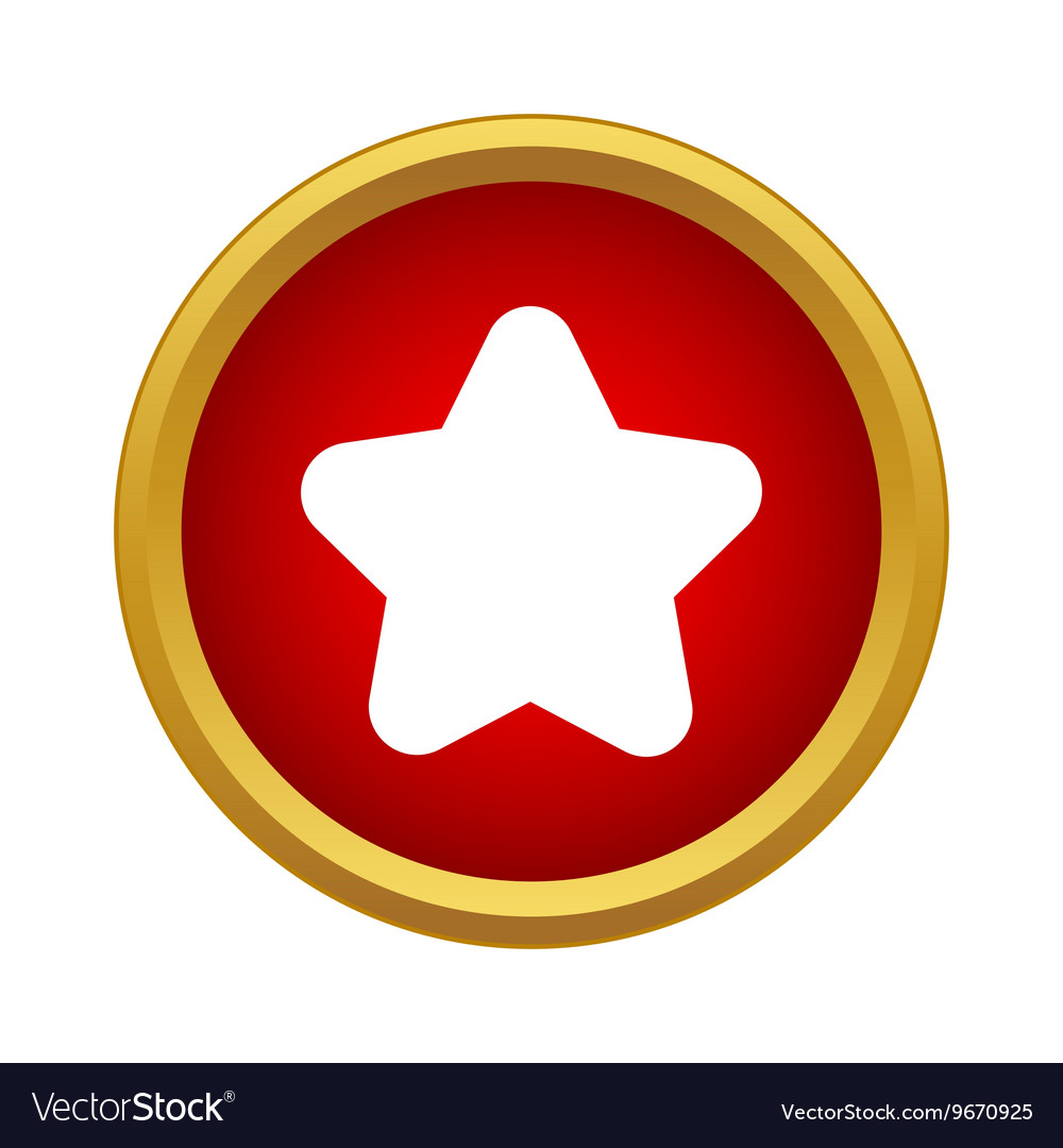 Star icon in simple style vector