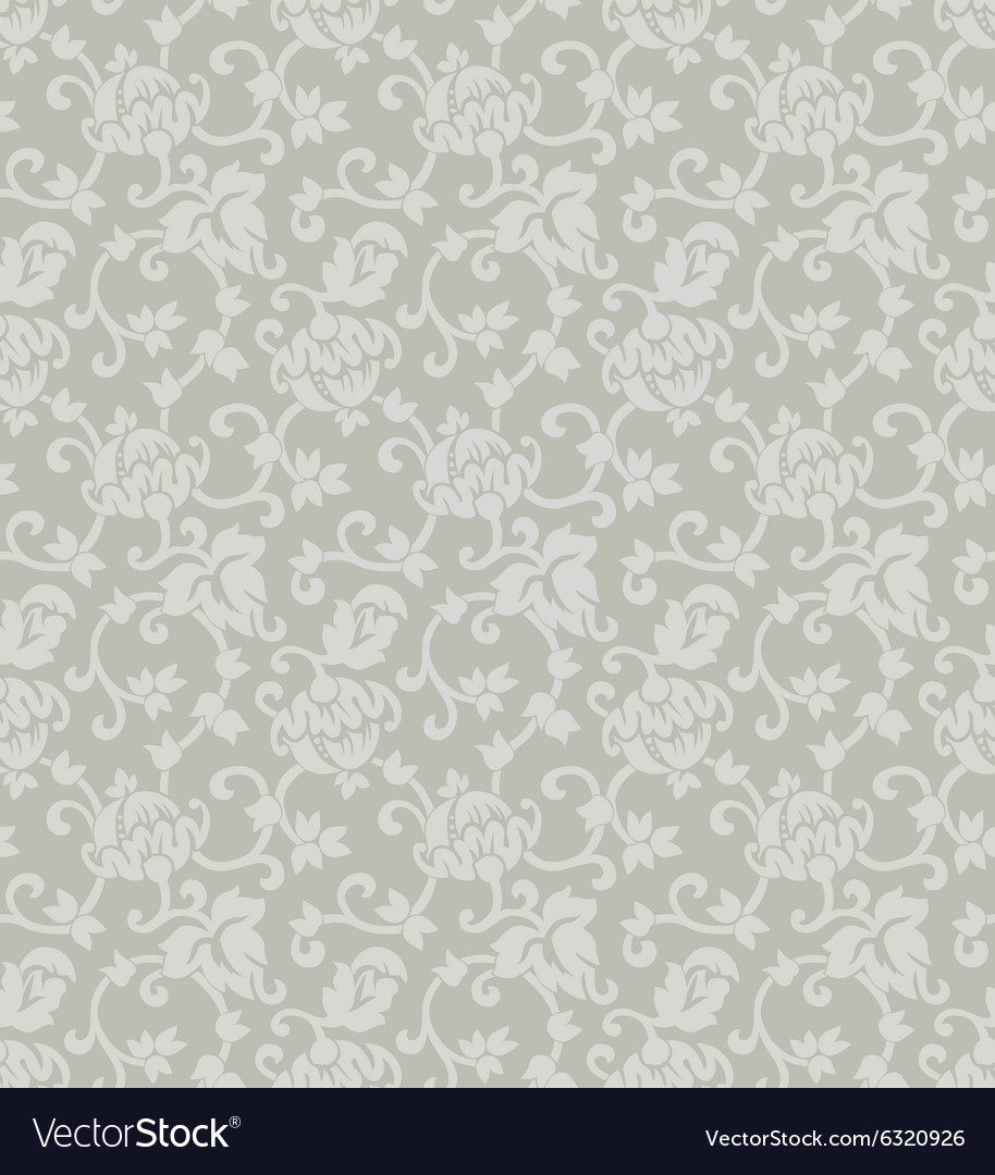 Floral ornament seamless background vector