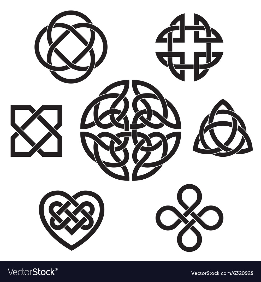 Variety of celtic knots vector
