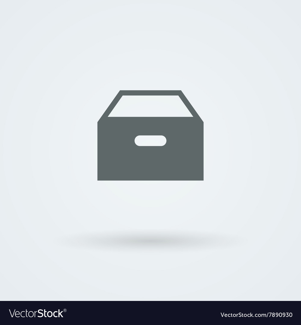 Icon with paper drawer vector
