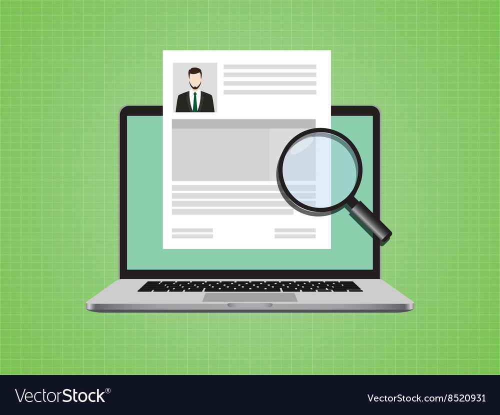 People cv on paper document with photo and vector