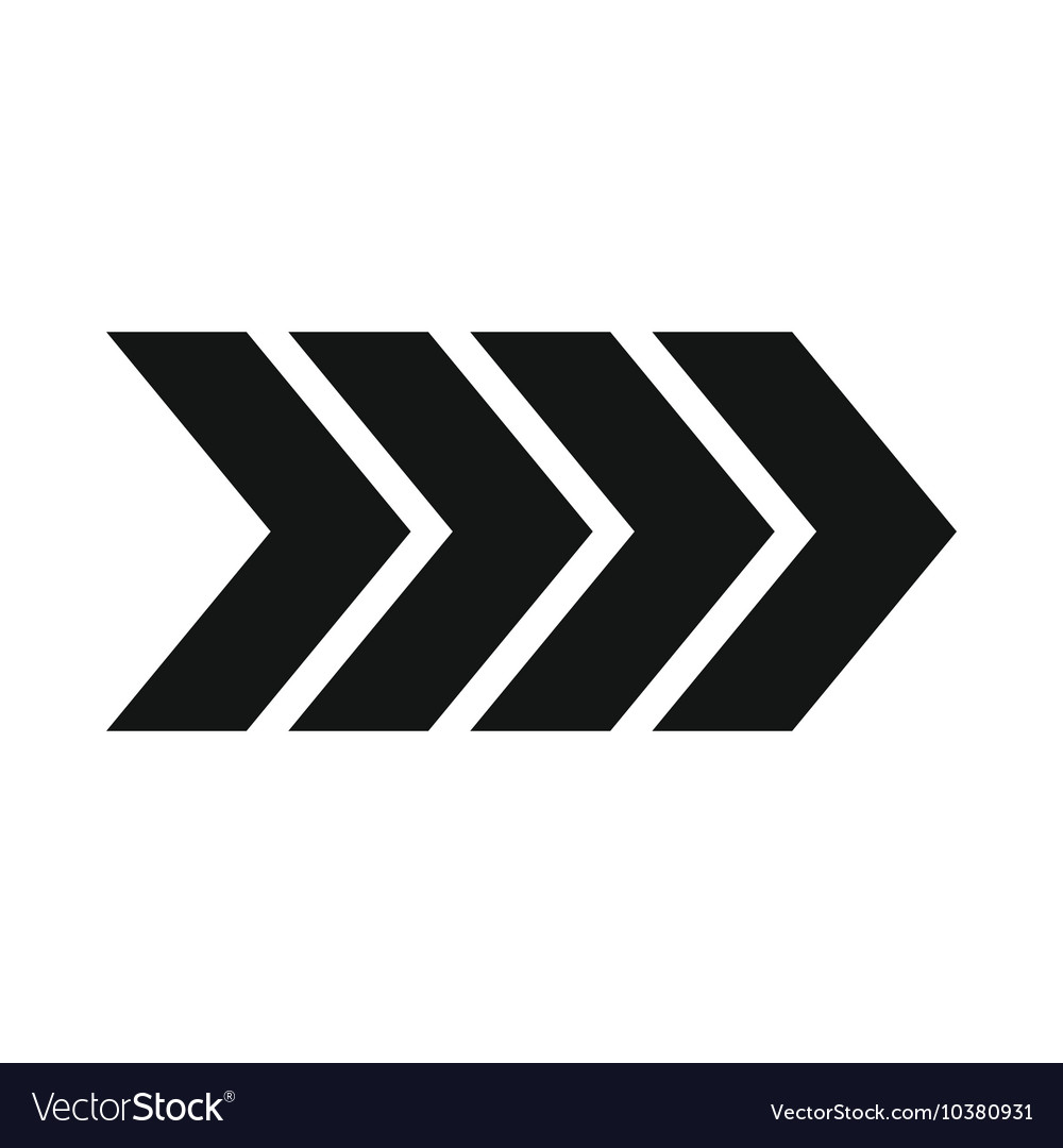 Striped arrow icon simple style vector