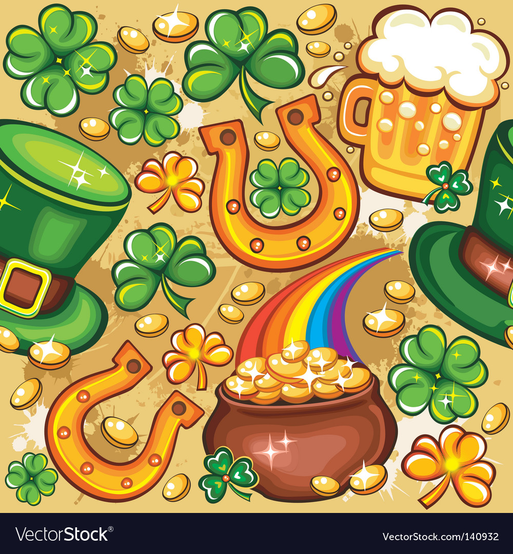 St patricks day seamless vector