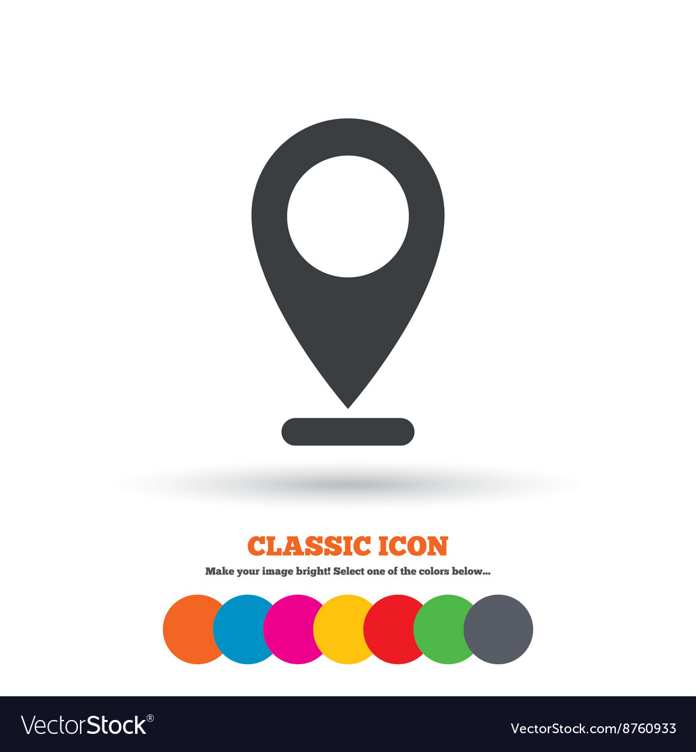 Internet mark icon navigation pointer symbol vector